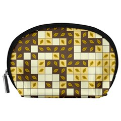 Autumn Leaves Pattern Accessory Pouches (large)  by linceazul