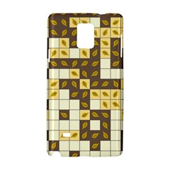 Autumn Leaves Pattern Samsung Galaxy Note 4 Hardshell Case by linceazul