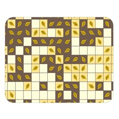 Autumn Leaves Pattern Double Sided Flano Blanket (large)  by linceazul