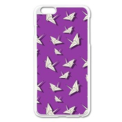 Paper Cranes Pattern Apple Iphone 6 Plus/6s Plus Enamel White Case by Valentinaart