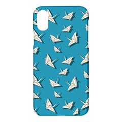 Paper Cranes Pattern Apple Iphone X Hardshell Case by Valentinaart