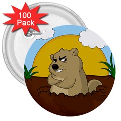 Groundhog Day 3  Buttons (100 Pack)  by Valentinaart