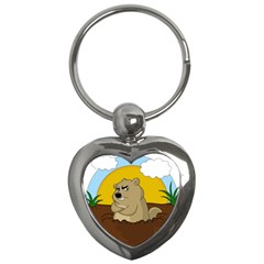 Groundhog Day Key Chains (heart)  by Valentinaart