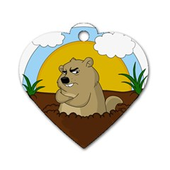 Groundhog Day Dog Tag Heart (one Side) by Valentinaart