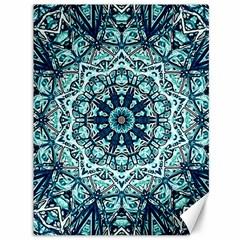 Green Blue Black Mandala  Psychedelic Pattern Canvas 36  X 48