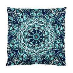 Green Blue Black Mandala  Psychedelic Pattern Standard Cushion Case (two Sides) by Costasonlineshop