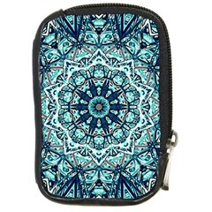 Green Blue Black Mandala  Psychedelic Pattern Compact Camera Cases