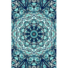 Green Blue Black Mandala  Psychedelic Pattern 5 5  X 8 5  Notebooks
