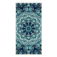 Green Blue Black Mandala  Psychedelic Pattern Shower Curtain 36  X 72  (stall)