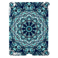 Green Blue Black Mandala  Psychedelic Pattern Apple Ipad 3/4 Hardshell Case (compatible With Smart Cover)