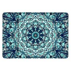 Green Blue Black Mandala  Psychedelic Pattern Samsung Galaxy Tab 8 9  P7300 Flip Case by Costasonlineshop