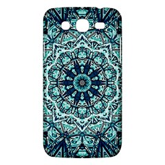Green Blue Black Mandala  Psychedelic Pattern Samsung Galaxy Mega 5 8 I9152 Hardshell Case  by Costasonlineshop