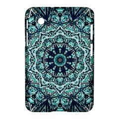 Green Blue Black Mandala  Psychedelic Pattern Samsung Galaxy Tab 2 (7 ) P3100 Hardshell Case  by Costasonlineshop