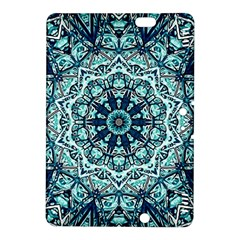 Green Blue Black Mandala  Psychedelic Pattern Kindle Fire Hdx 8 9  Hardshell Case