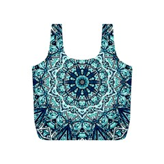 Green Blue Black Mandala  Psychedelic Pattern Full Print Recycle Bags (s)