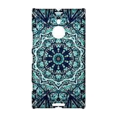 Green Blue Black Mandala  Psychedelic Pattern Nokia Lumia 1520 by Costasonlineshop