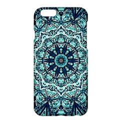 Green Blue Black Mandala  Psychedelic Pattern Apple Iphone 6 Plus/6s Plus Hardshell Case