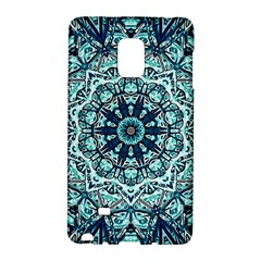 Green Blue Black Mandala  Psychedelic Pattern Galaxy Note Edge
