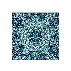 Green Blue Black Mandala  Psychedelic Pattern Satin Bandana Scarf by Costasonlineshop