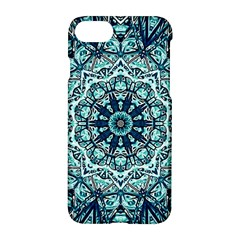 Green Blue Black Mandala  Psychedelic Pattern Apple Iphone 7 Hardshell Case by Costasonlineshop