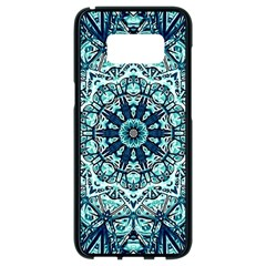 Green Blue Black Mandala  Psychedelic Pattern Samsung Galaxy S8 Black Seamless Case
