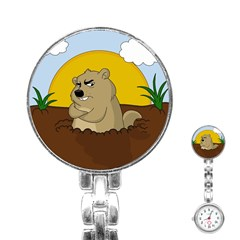 Groundhog Day Stainless Steel Nurses Watch by Valentinaart