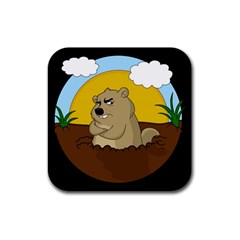 Groundhog Day Rubber Square Coaster (4 Pack)  by Valentinaart