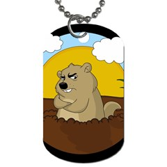 Groundhog Day Dog Tag (two Sides) by Valentinaart