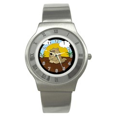Groundhog Day Stainless Steel Watch by Valentinaart