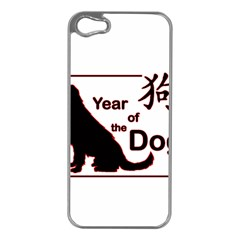 Year Of The Dog   Chinese New Year Apple Iphone 5 Case (silver) by Valentinaart