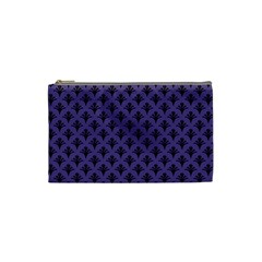 Color Of The Year 2018   Ultraviolet   Art Deco Black Edition  Cosmetic Bag (small)  by tarastyle