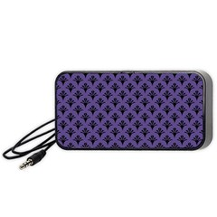 Color Of The Year 2018   Ultraviolet   Art Deco Black Edition  Portable Speaker by tarastyle
