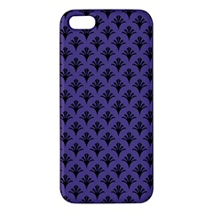 Color Of The Year 2018   Ultraviolet   Art Deco Black Edition  Apple Iphone 5 Premium Hardshell Case