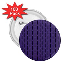 Color Of The Year 2018   Ultraviolet   Art Deco Black Edition 2 25  Buttons (100 Pack)  by tarastyle