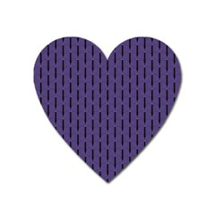 Color Of The Year 2018   Ultraviolet   Art Deco Black Edition Heart Magnet by tarastyle