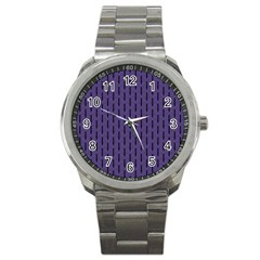 Color Of The Year 2018   Ultraviolet   Art Deco Black Edition Sport Metal Watch by tarastyle