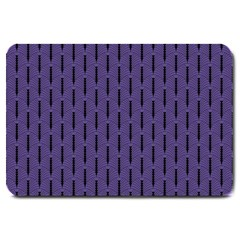 Color Of The Year 2018   Ultraviolet   Art Deco Black Edition Large Doormat  by tarastyle