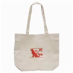 Year Of The Dog   Chinese New Year Tote Bag (cream) by Valentinaart