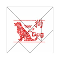 Year Of The Dog   Chinese New Year Acrylic Tangram Puzzle (6  X 6 ) by Valentinaart