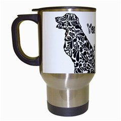 Year Of The Dog   Chinese New Year Travel Mugs (white) by Valentinaart