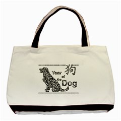 Year Of The Dog   Chinese New Year Basic Tote Bag by Valentinaart