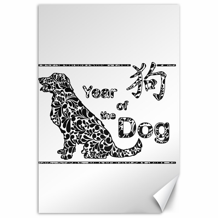 Year of the Dog - Chinese New Year Canvas 20  x 30
