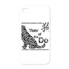 Year Of The Dog   Chinese New Year Apple Iphone 4 Case (white) by Valentinaart