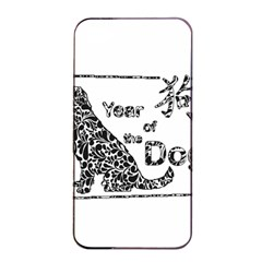 Year Of The Dog   Chinese New Year Apple Iphone 4/4s Seamless Case (black) by Valentinaart
