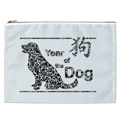 Year Of The Dog   Chinese New Year Cosmetic Bag (xxl)  by Valentinaart