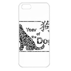 Year Of The Dog   Chinese New Year Apple Iphone 5 Seamless Case (white) by Valentinaart