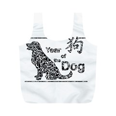 Year Of The Dog   Chinese New Year Full Print Recycle Bags (m)  by Valentinaart