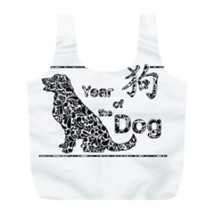 Year Of The Dog   Chinese New Year Full Print Recycle Bags (l)  by Valentinaart