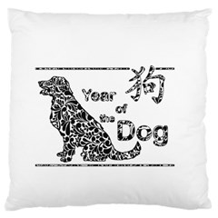 Year Of The Dog   Chinese New Year Large Flano Cushion Case (one Side) by Valentinaart