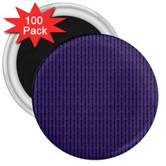Color Of The Year 2018   Ultraviolet   Art Deco Black Edition 3  Magnets (100 Pack) by tarastyle